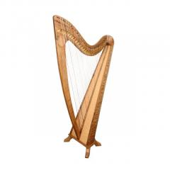 34 String Round Back Harp Walnut