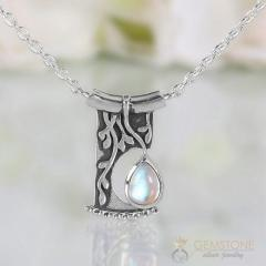 Moonstone Necklace - Night Soul - Gsj