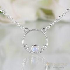 Moonstone Necklace - Moon Halo - GSJ