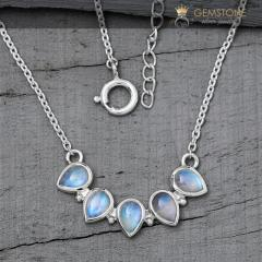 Moonstone Necklace - Captured Gleam - GSJ