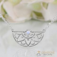 Moonstone Necklace - Adorned Aura - GSJ
