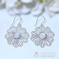 Moonstone Earring - Sylvan Aurora