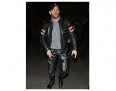 THIS MEANS WAR TOM HARDY BLACK LEATHER JACKET