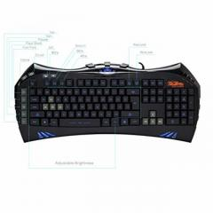BAKTH Illuminated LED Backlit Multimedia Wired Keyboard
