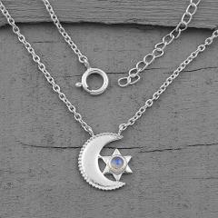 Moonstone Necklace - Moons Compatriot - GSJ