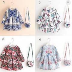 Buy Floral Print Dress with Bag at alisababy
