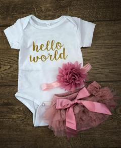 Buy Newborn Baby Girl Hello World Set From Alisababy