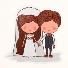 The Bride And Groom Custom Stickers | GS-JJ.com ™