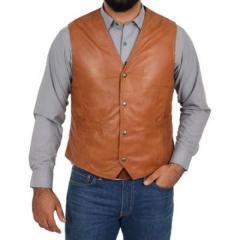 Mens Leather Waistcoat at Affordable Range