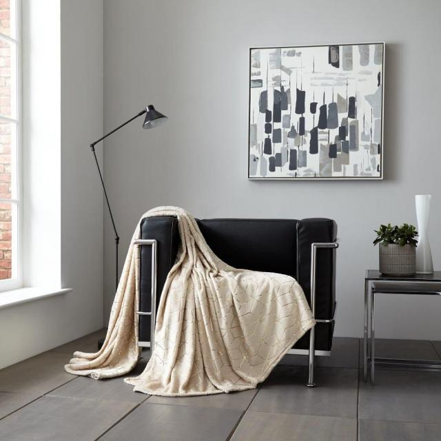 Modern Metallic Cube and star  Sofa blanket for sale 3 Image