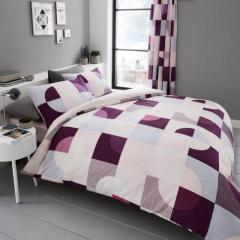 Pattern Printed Duvet Set with Pillow and quilt covers
