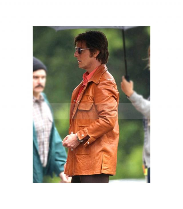 Tom Cruise Mena Barry Seal Brown Leather Jacket 3 Image