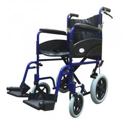Z-Tec Folding Aluminium Transit Wheelchair With Hand Br