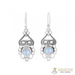 Moonstone Earring - CRISP FLAME - GSJ