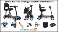 Edrive Electric Folding Travel Mobility Scooter