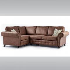 Large Leather Romeo Corner Sofa (Brown)