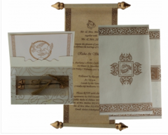 Designer Scroll Wedding Invitations By Shubhankar