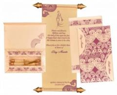 Scroll Wedding Invitations By Shubhankar
