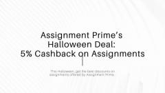 Assignment Primes Halloween Deal on Assignments