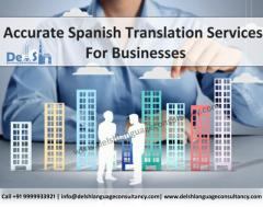 Spanish Translation Company in India