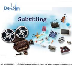 Subtitling services in India
