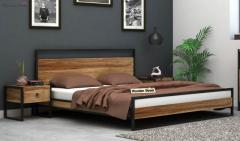 Cheap Double Beds - Wooden Street