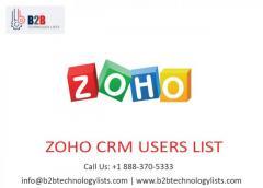 Buy Zoho CRM users USA list - B2B Technology Lists