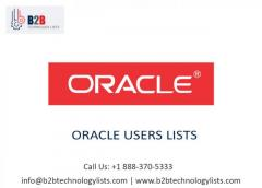 Buy Updated Oracle Users Lists - B2B Technology
