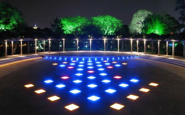 WiFi Deck Lights, Outdoor Recessed Step Stair Blue LED 4 Image