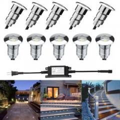 10cs 22mm 12V Outdoor Garden Yard LED Deck Rail Stair