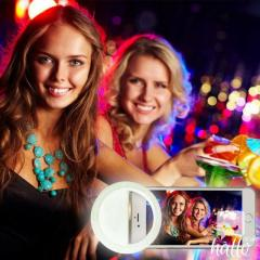 USB Rechargeable Selfie LED Ring Fill Light for iPhone