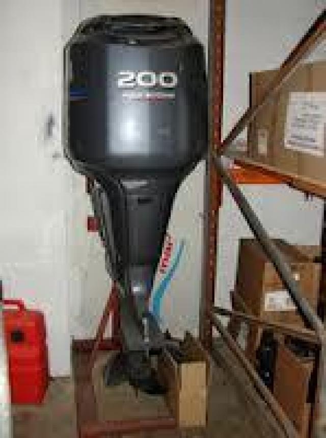 Slightly Used Yamaha Outboard Motor 7 Image