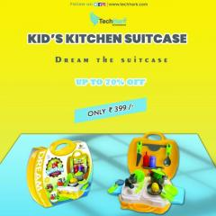 Techhark Kids Dream Kitchen Cooking Suitcase Set