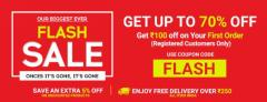 Up to 70  Flat 5 Off Flash Sale Online  Best Offers