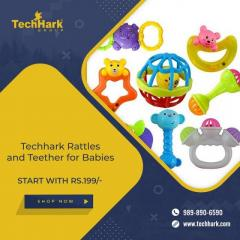 Techhark Rattles And Teether For Babies