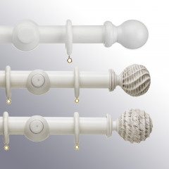 Buy Now White Wooden Curtain Poles at an Affordable Pr