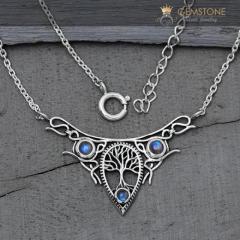 Moonstone Necklace - Vintage Moon - GSJ