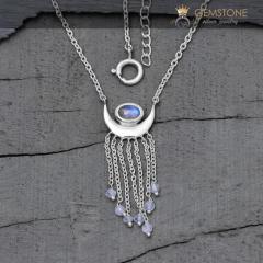 Moonstone Necklace - Moon Child - GSJ