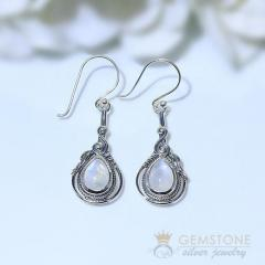 Moonstone Earring - Coral Delight - GSJ