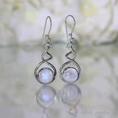 Moonstone Earring - BRAIDED MERMAID - GSJ
