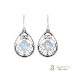 Moonstone Earring - CELESTIAL DROP - GSJ