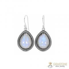 Moonstone Earring - ALMOND BLISS - GSJ