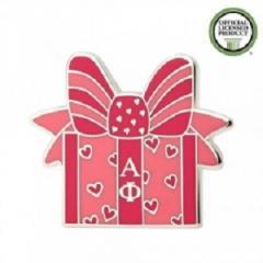 Alpha Phi Gift Box Enamel Pins