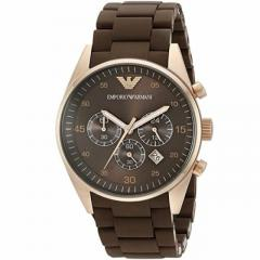 Armani Ar 5890 Stainless Steel Brown Strap Watch