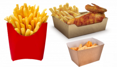 Get your own design Custom Fries boxes wholesale