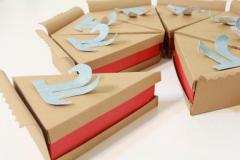 Create your design and get Pie slice boxes Wholesale