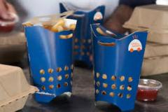 Get trendy Custom french fry containerWholesale