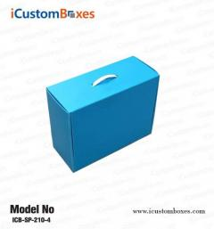 Custom cardboard boxes with the handle wholesale