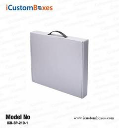 Get cardboard boxes with handle wholesale from us