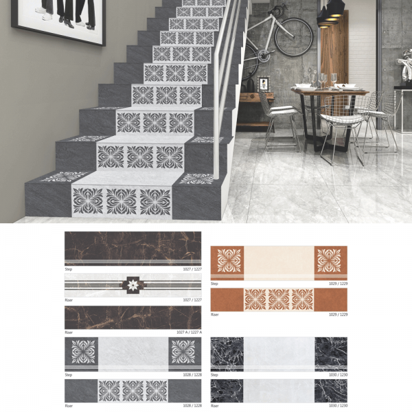 Stair Tiles - Step Riser Tiles Manufacturer Company in India 3 Image